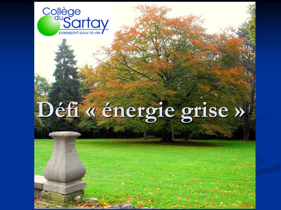 Défi « énergie grise »
