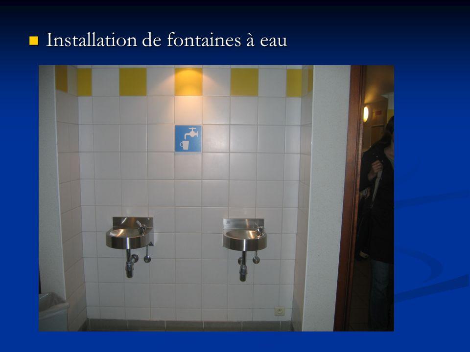 Installation de fontaines à eau Installation de fontaines à eau