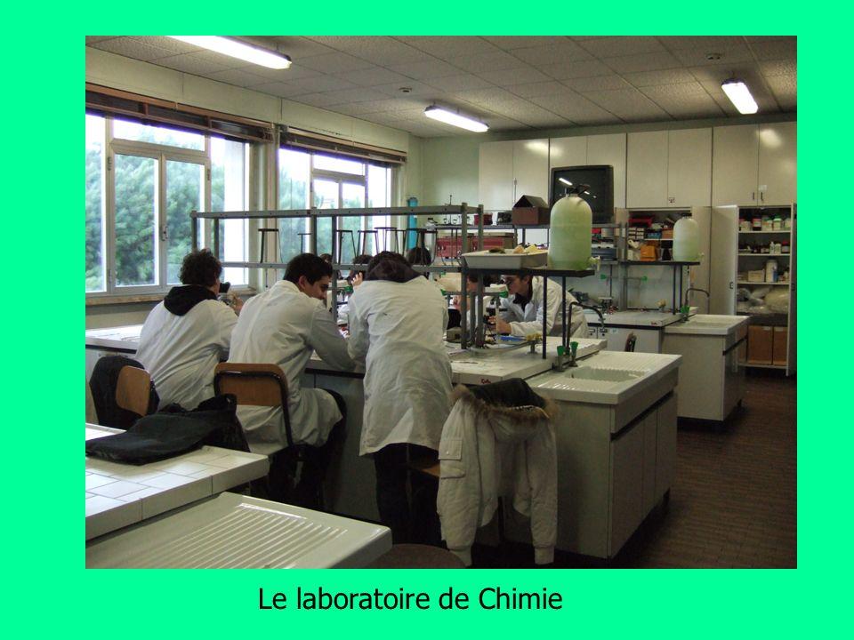Le laboratoire de Chimie