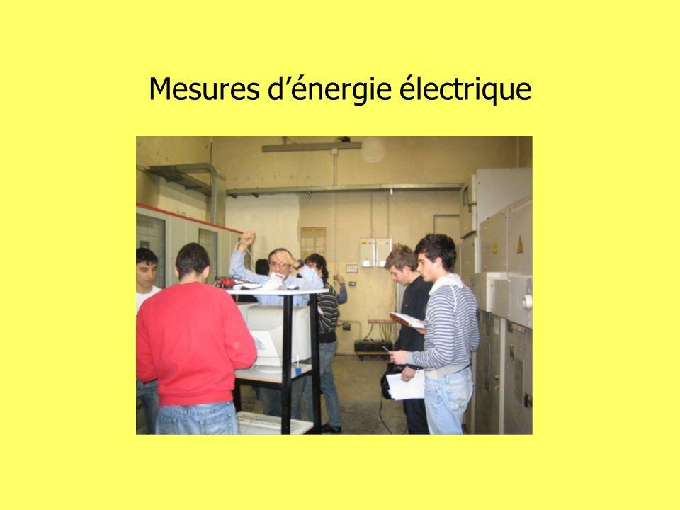 Mesures dénergie électrique