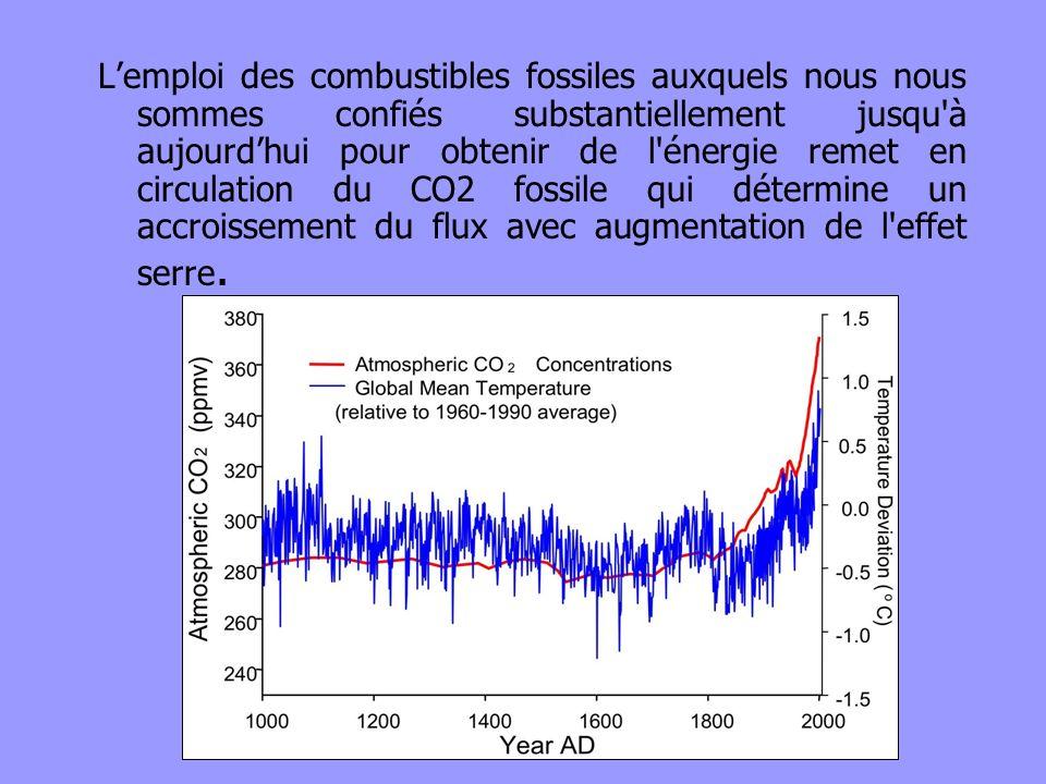 Lemploi des combustibles fossiles auxquels nous nous sommes confiés substantiellement jusqu'à aujourdhui pour obtenir de l'énergie remet en circulatio