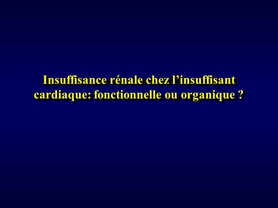 Insuffisance rénale chez linsuffisant cardiaque: fonctionnelle ou organique ?