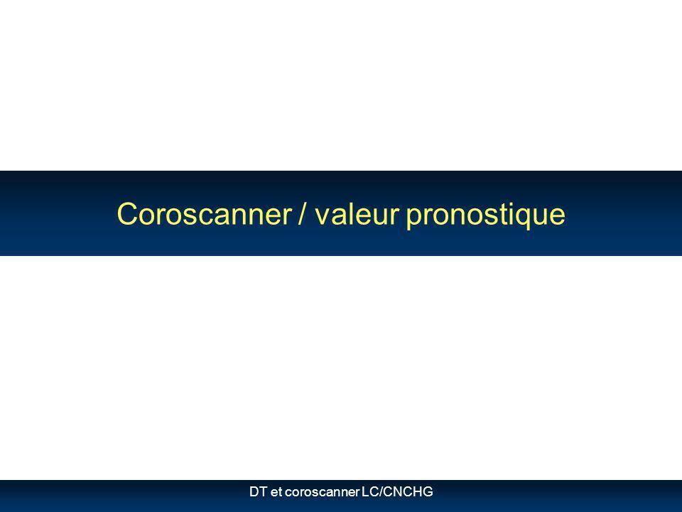 DT et coroscanner LC/CNCHG Coroscanner / valeur pronostique