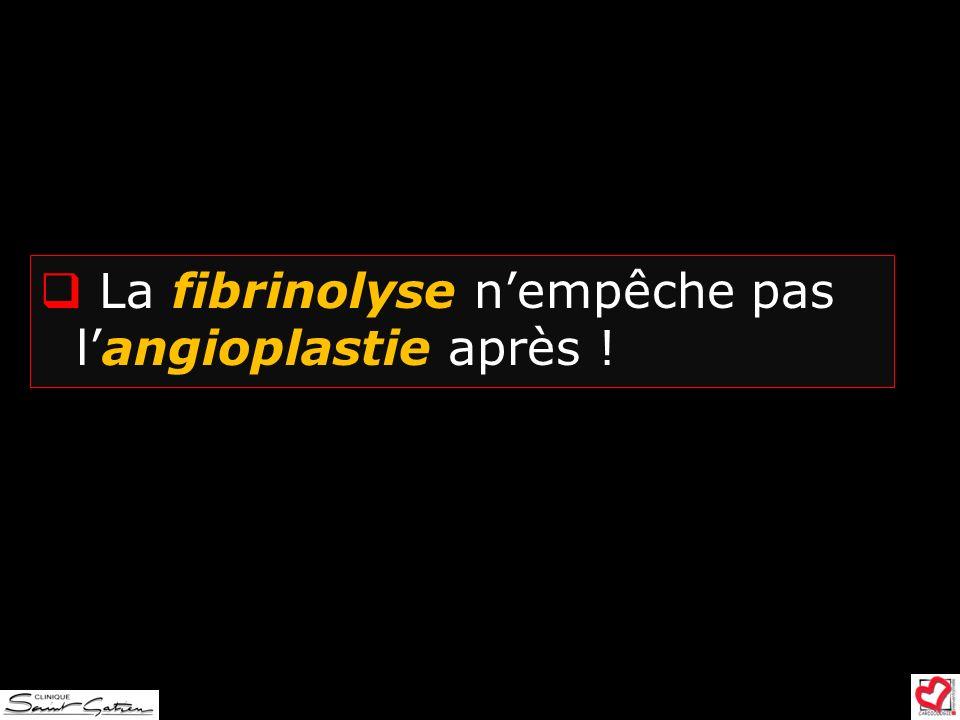 La fibrinolyse nempêche pas langioplastie après !