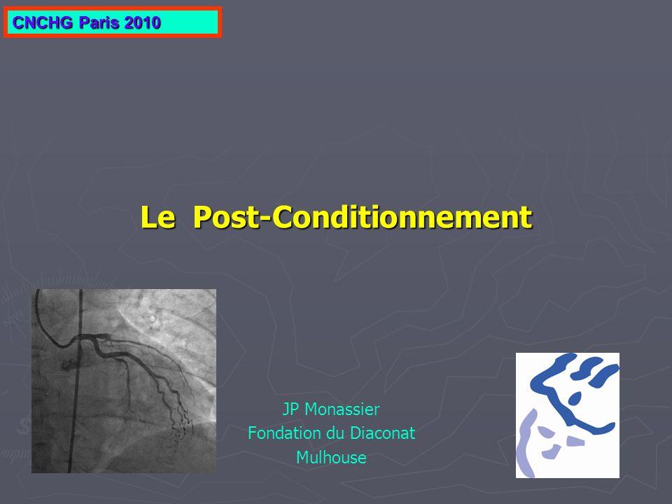 Le Post-Conditionnement JP Monassier Fondation du Diaconat Mulhouse CNCHG Paris 2010
