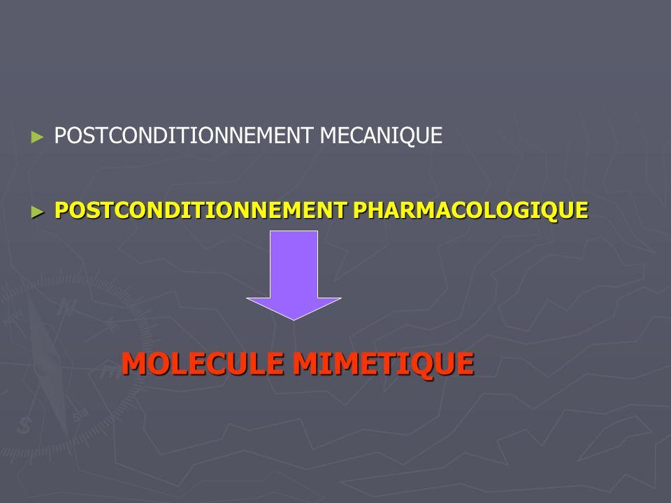 POSTCONDITIONNEMENT MECANIQUE POSTCONDITIONNEMENT PHARMACOLOGIQUE POSTCONDITIONNEMENT PHARMACOLOGIQUE MOLECULE MIMETIQUE