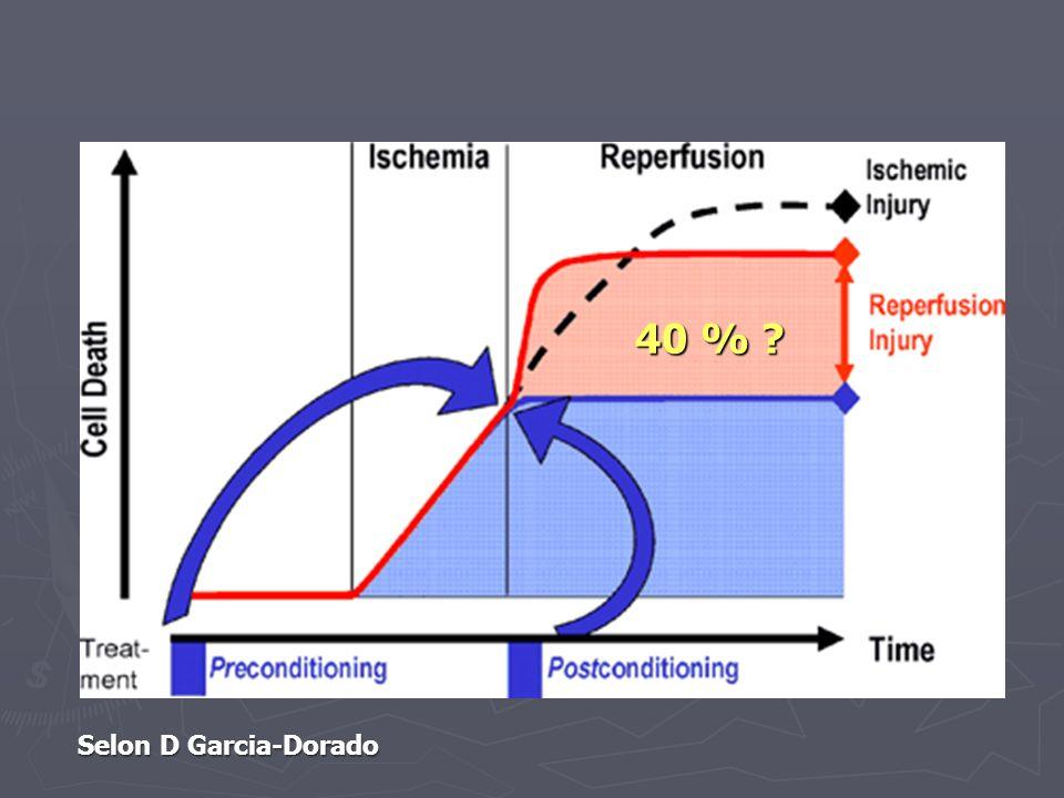 Selon D Garcia-Dorado 40 % ?
