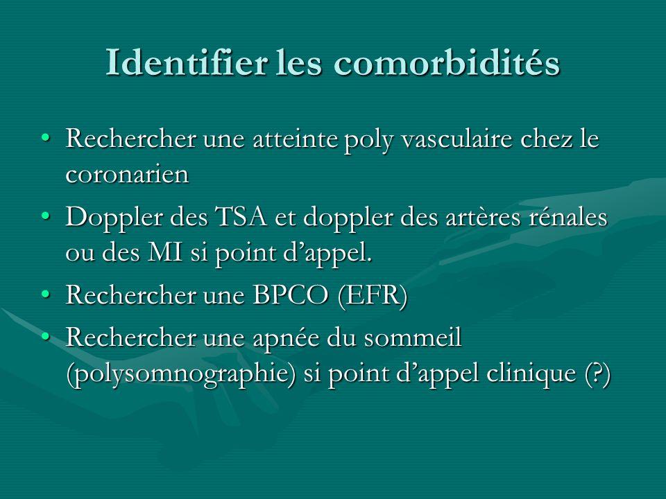 Identifier les comorbidités Rechercher une atteinte poly vasculaire chez le coronarienRechercher une atteinte poly vasculaire chez le coronarien Doppl