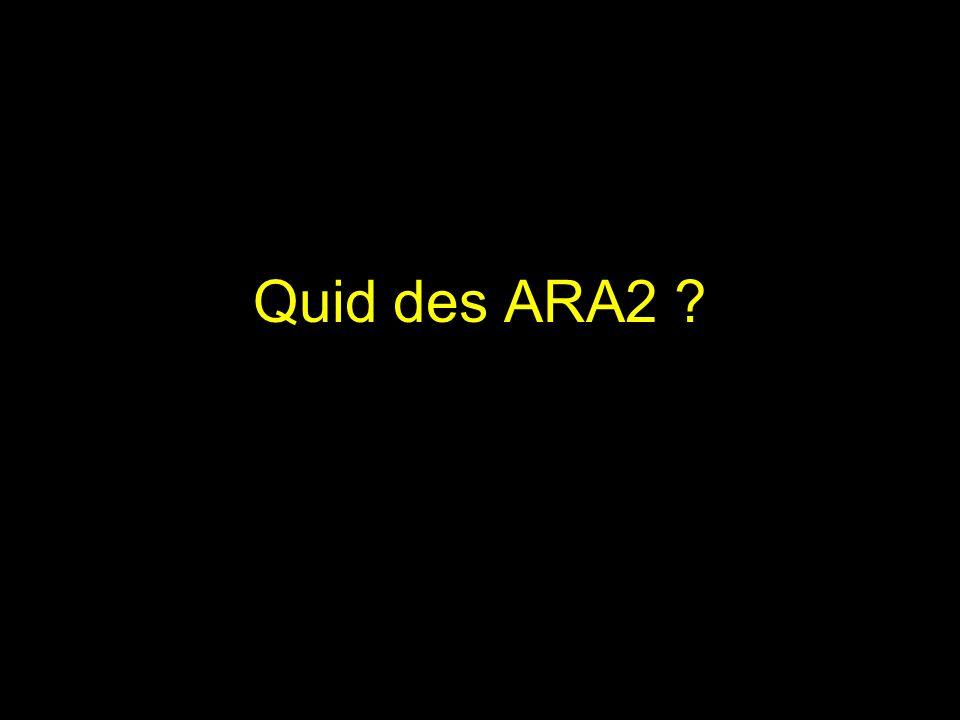 Quid des ARA2 ?