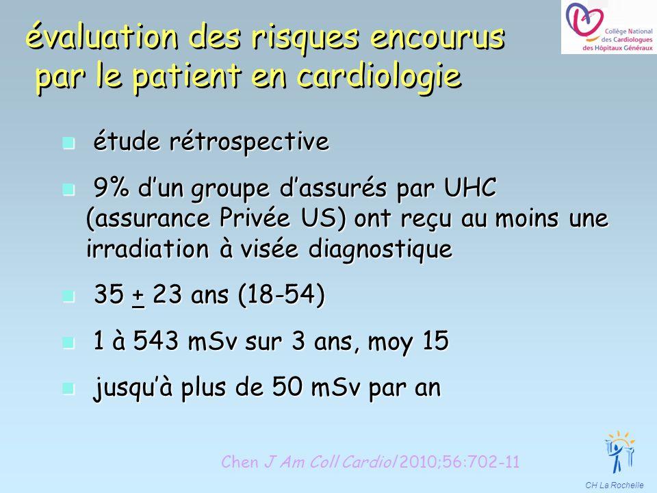 CH La Rochelle évaluation des risques encourus par le patient en cardiologie n étude rétrospective n 9% dun groupe dassurés par UHC (assurance Privée
