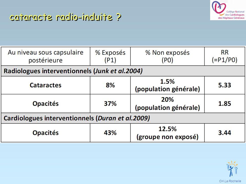 CH La Rochelle cataracte radio-induite ?