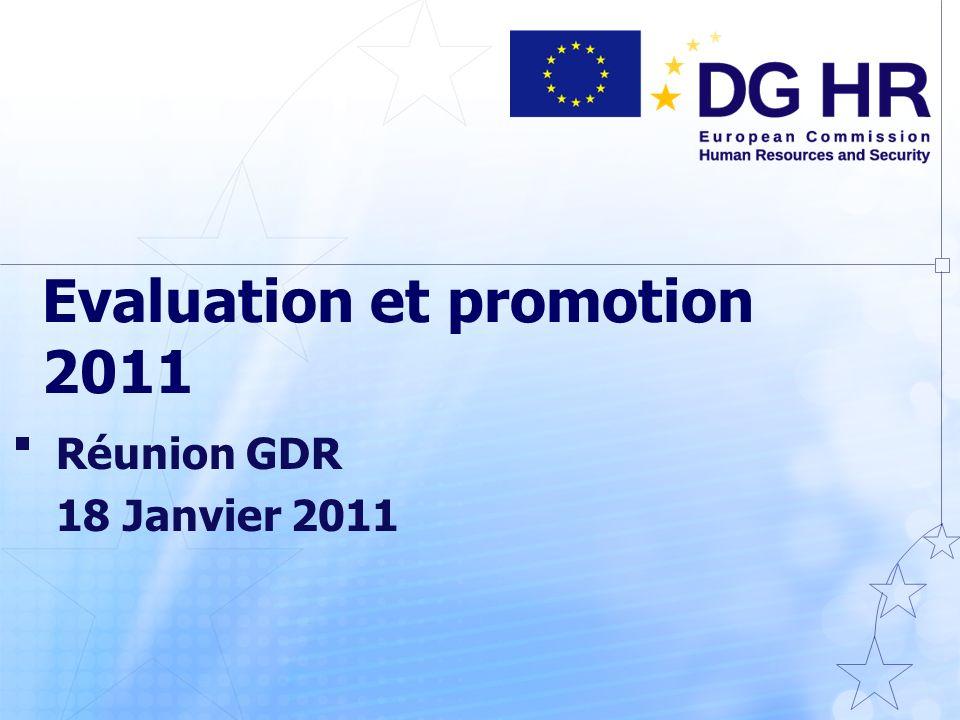 Evaluation et promotion 2011 Réunion GDR 18 Janvier 2011
