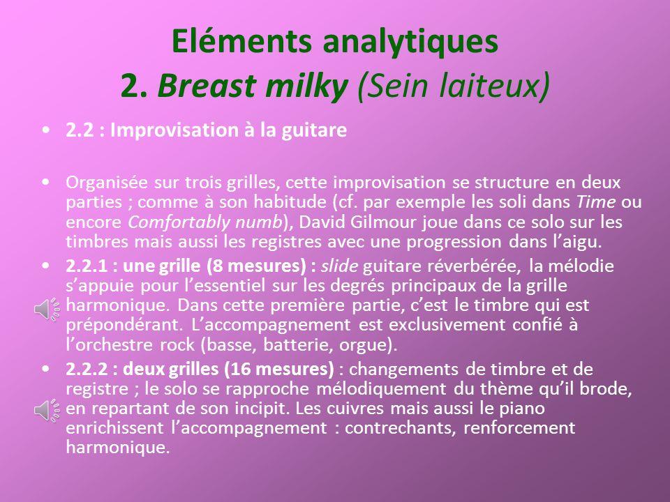 Eléments analytiques 2.