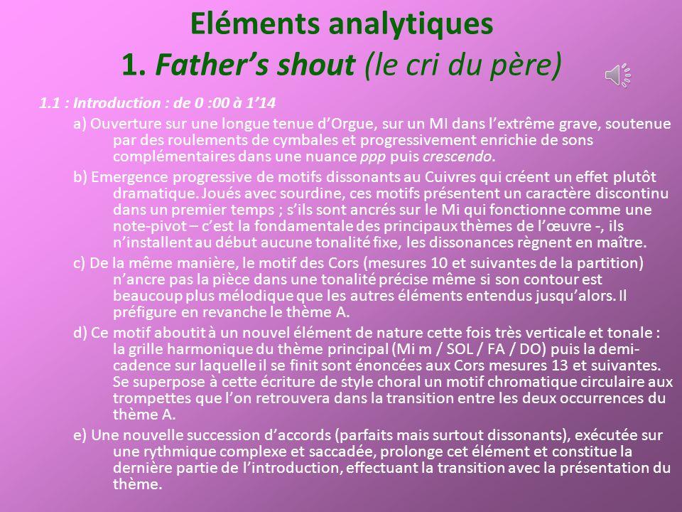 Eléments analytiques 4.