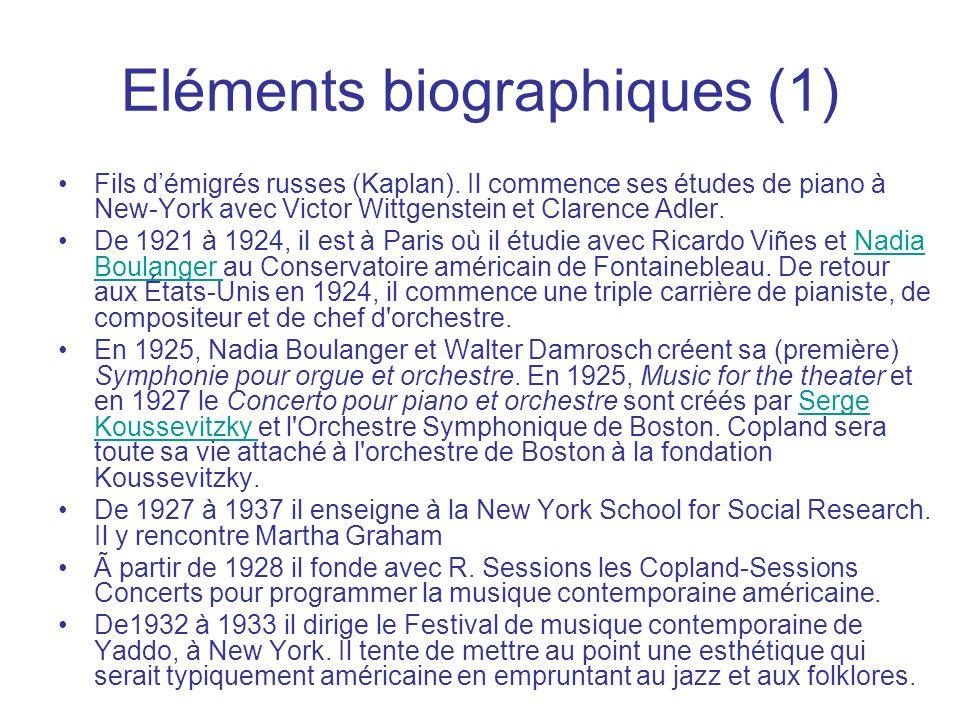Eléments biographiques (1) Fils démigrés russes (Kaplan). Il commence ses études de piano à New-York avec Victor Wittgenstein et Clarence Adler. De 19