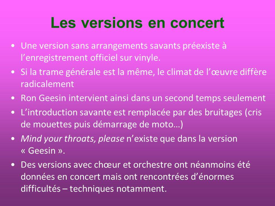 Le concert du 23 janvier 1970 Extrait du compte rendu du concert donné le 23 janvier 1970 au Théâtre des Champs-Elysées à Paris ; il sagit dune des premières versions de la pièce, avant toute adjonction darrangement savant.