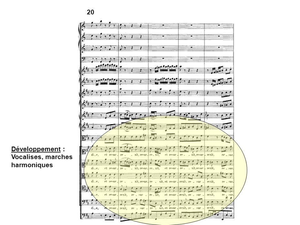 20 Développement : Vocalises, marches harmoniques