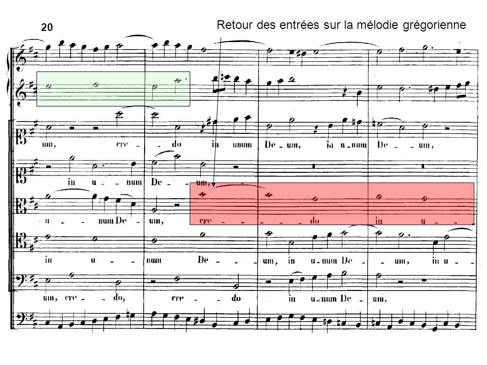 20 Retour des entrées sur la mélodie grégorienne