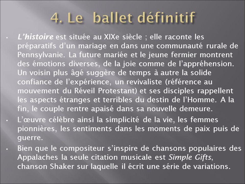 Structure du ballet 1.