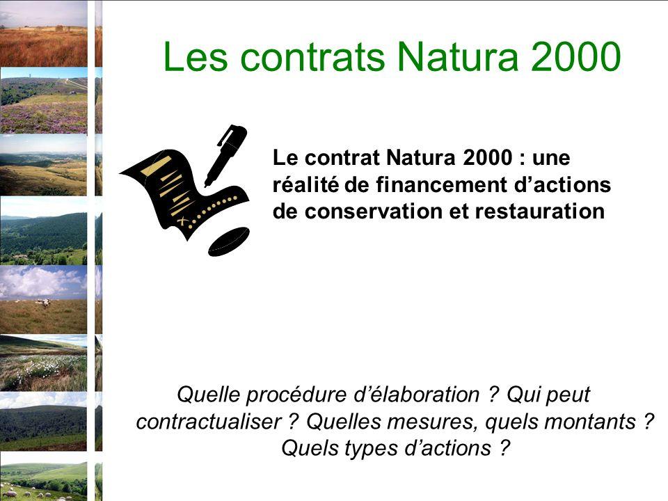 Les contrats Natura 2000 Quelle procédure délaboration .