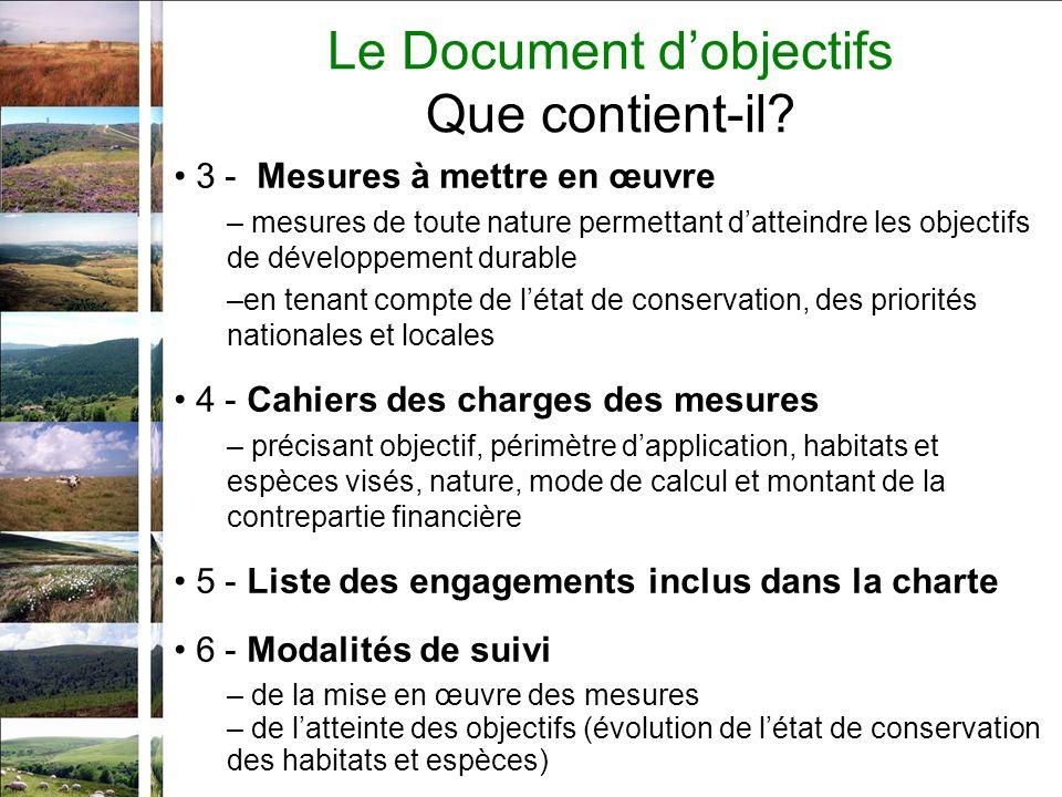 3 - Mesures à mettre en œuvre – mesures de toute nature permettant datteindre les objectifs de développement durable –en tenant compte de létat de con