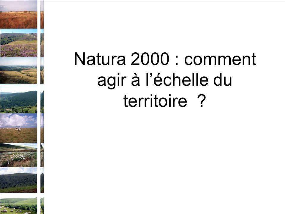 Natura 2000 : comment agir à léchelle du territoire