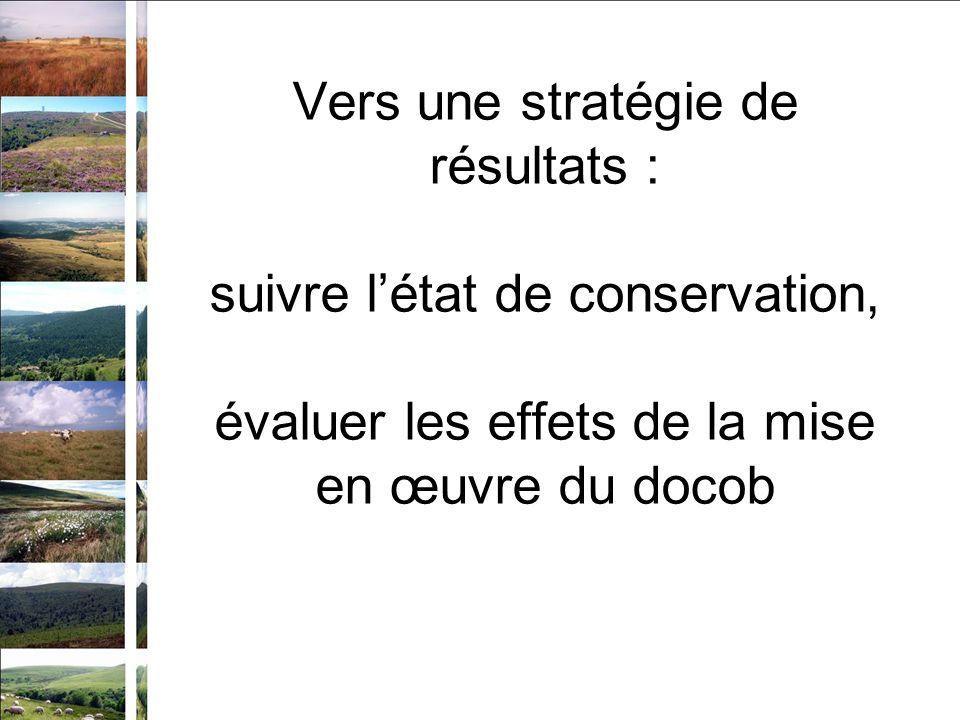 Vers une stratégie de résultats : suivre létat de conservation, évaluer les effets de la mise en œuvre du docob