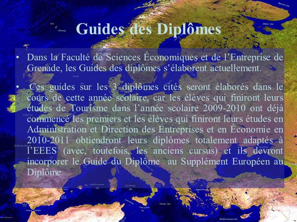 Guides des Diplômes Dans la Faculté de Sciences Économiques et de lEntreprise de Grenade, les Guides des diplômes sélaborent actuellement.