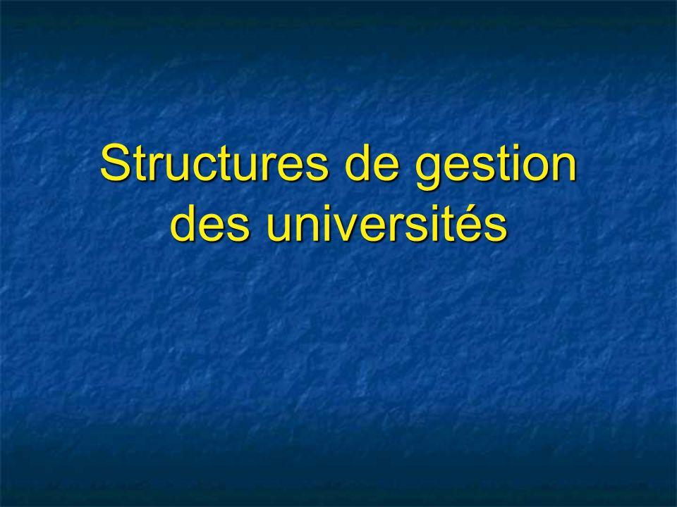 Structures de gestion des universités