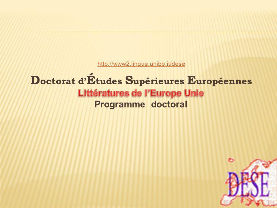 Colloque thématique (dans une des Universités partenaires) Ex: Bologne – Emergence de linconscient Mulhouse - Mythes Arras - Lumières