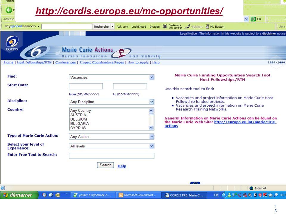 1313 http://cordis.europa.eu/mc-opportunities/