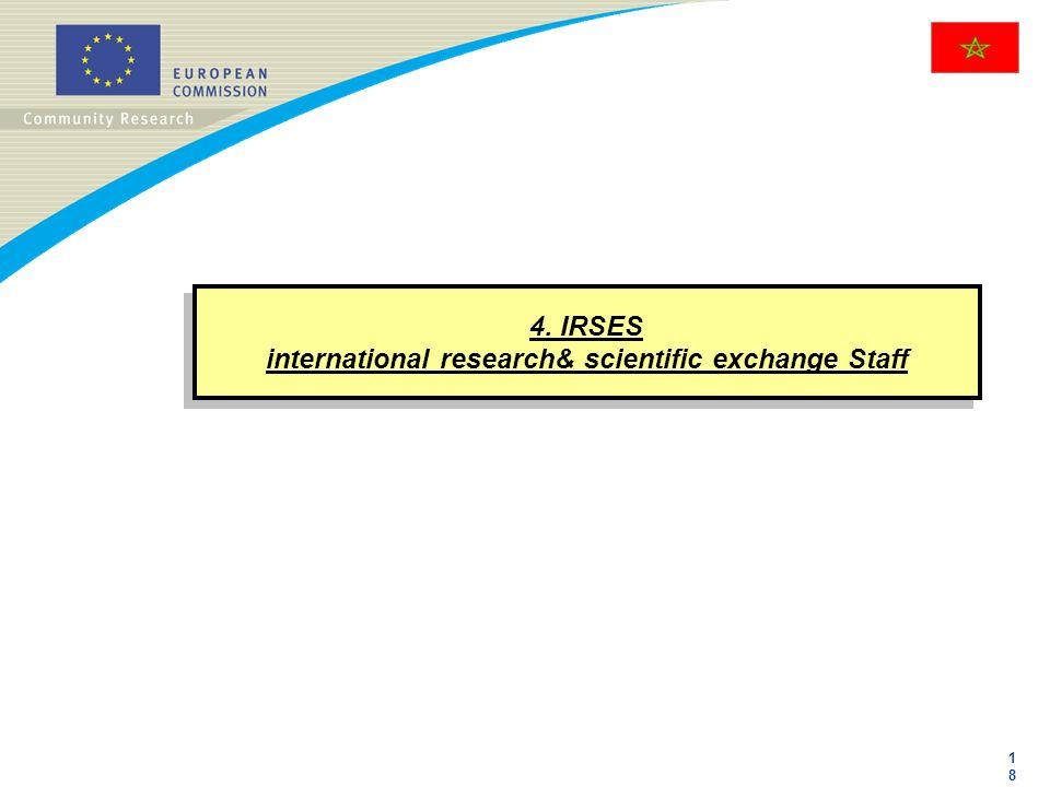1818 4. IRSES international research& scientific exchange Staff