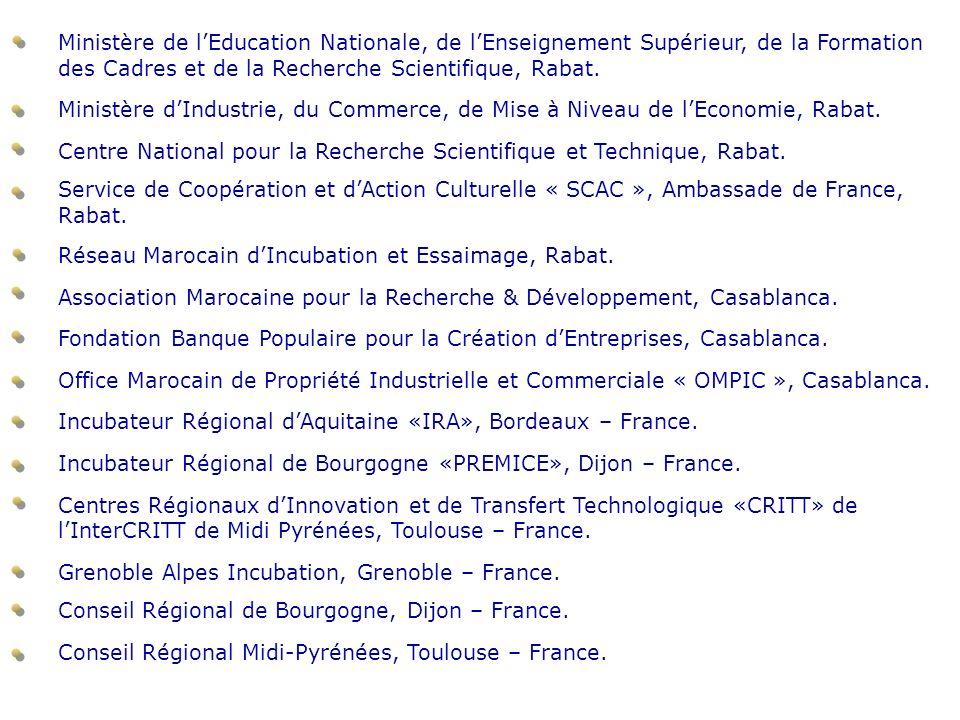 Ministère de lEducation Nationale, de lEnseignement Supérieur, de la Formation des Cadres et de la Recherche Scientifique, Rabat. Ministère dIndustrie
