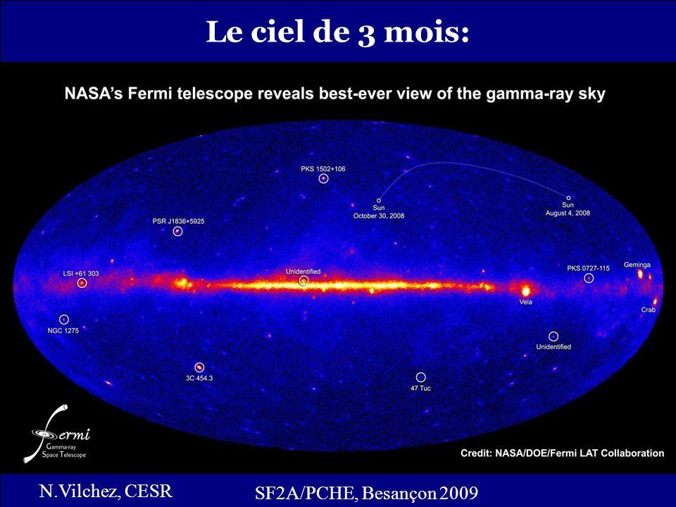 7 Catalogue BSL: SF2A/PCHE, Besançon 2009 N.Vilchez, CESR Catalogue BSL (Bright Source List): Basé sur 3 mois de données (444 sources ponctuelles) Les sources les plus brillantes du ciel ( > 10): 205 sources publication : http://heasarc.gsfc.nasa.gov/W3Browse/fermi/fermilbsl.html http://heasarc.gsfc.nasa.gov/W3Browse/fermi/fermilbsl.html