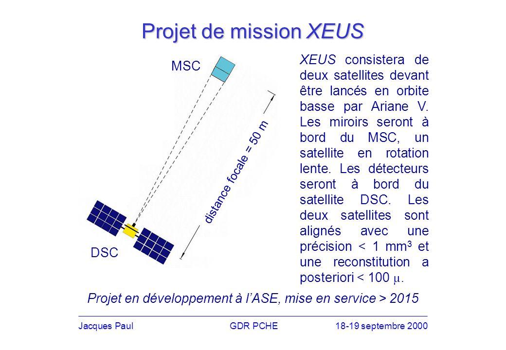 XEUS consistera de deux satellites devant être lancés en orbite basse par Ariane V.