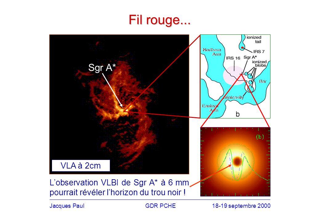 Jacques PaulGDR PCHE18-19 septembre 2000 Radio millimétrique Un grand projet dinterférométrie millimétrique à léchelle mondiale avec (entre autres) des objectifs cosmologiques.