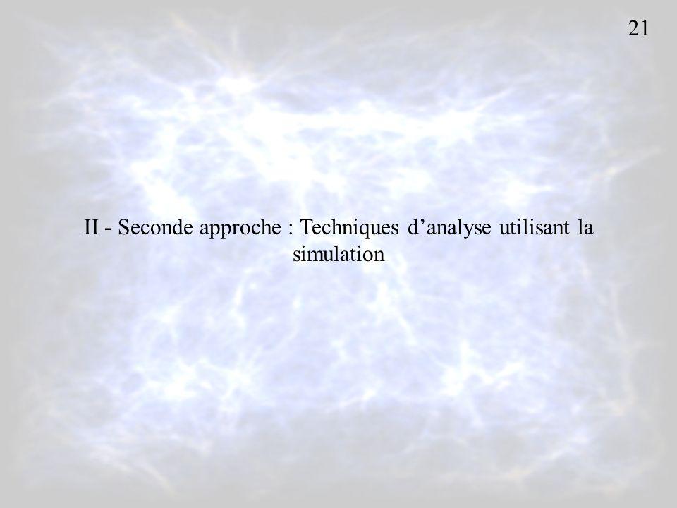 II - Seconde approche : Techniques danalyse utilisant la simulation 21