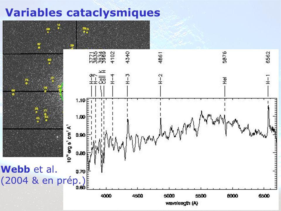 Variables cataclysmiques Webb et al. (2004 & en prép.)