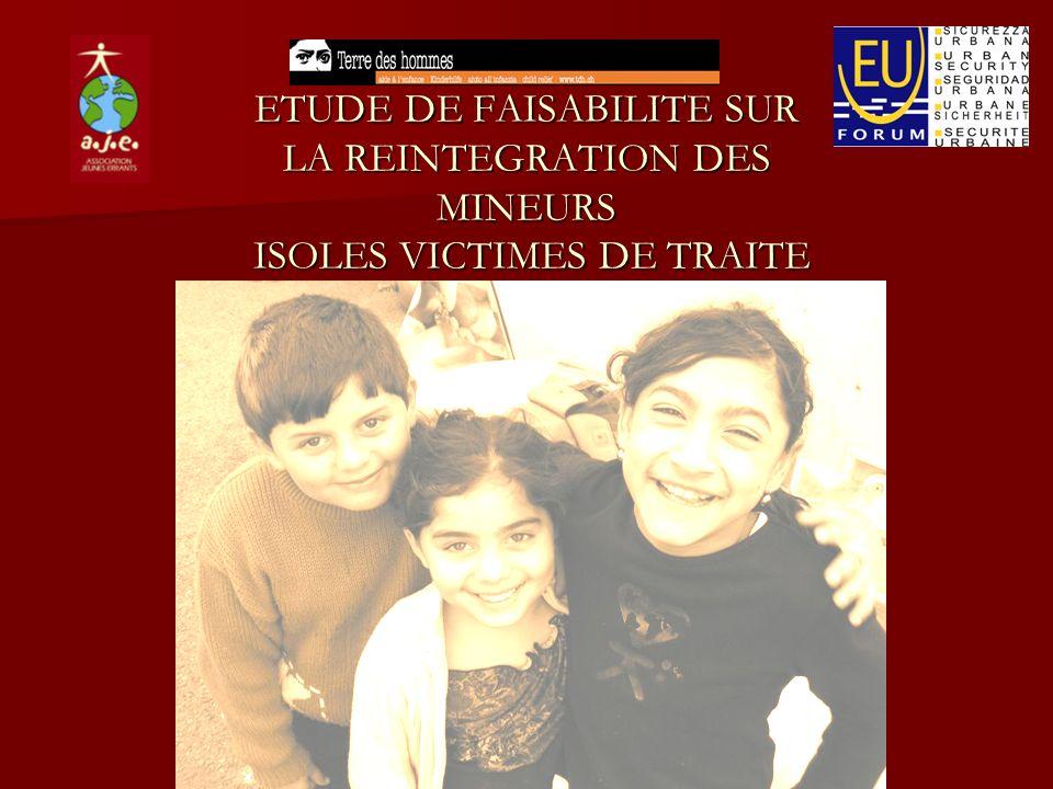 ETUDE DE FAISABILITE SUR LA REINTEGRATION DES MINEURS ISOLES VICTIMES DE TRAITE