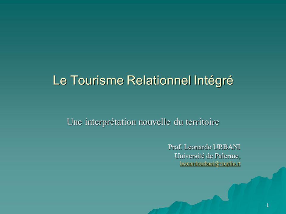 1 Le Tourisme Relationnel Intégré Une interprétation nouvelle du territoire Prof.