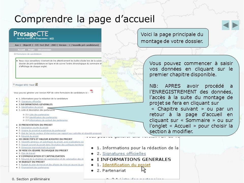 Comprendre la page daccueil Voici la page principale du montage de votre dossier.