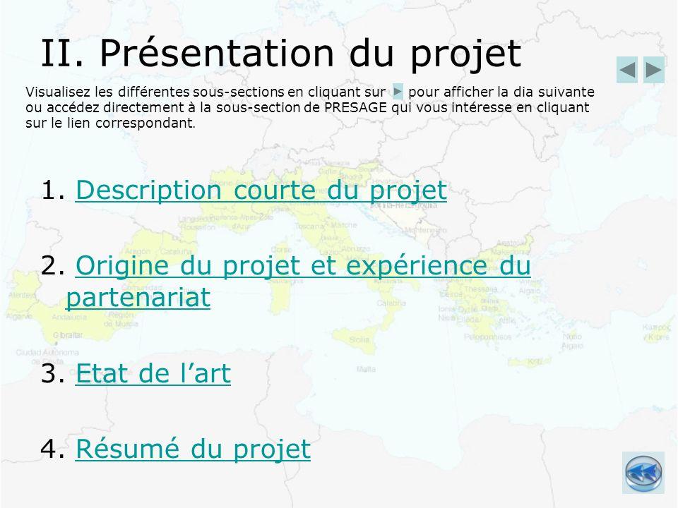 II. Présentation du projet 1. Description courte du projetDescription courte du projet 2.