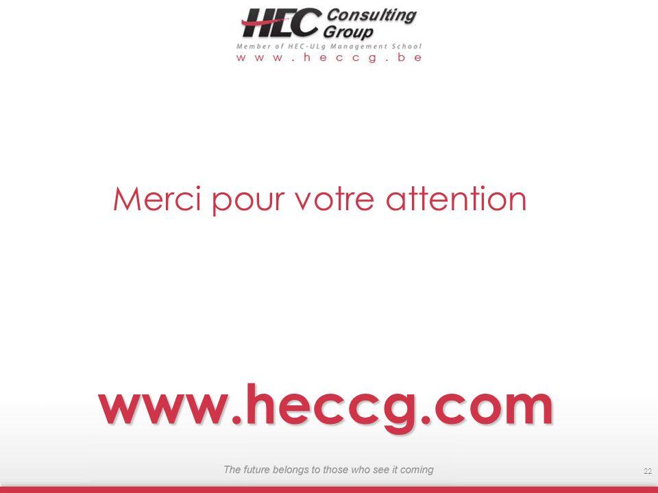 www.heccg.com 22 Merci pour votre attention