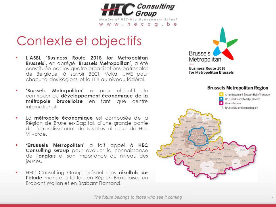 Contexte et objectifs LASBL Business Route 2018 for Metropolitan Brussels, en abrégé Brussels Metropolitan, a été constituée par les quatre organisations patronales de Belgique, à savoir BECI, Voka, UWE pour chacune des Régions et la FEB au niveau fédéral.