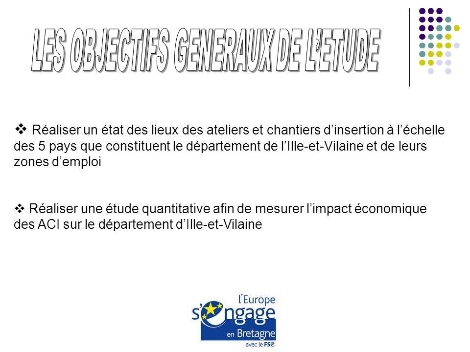Réaliser un état des lieux des ateliers et chantiers dinsertion à léchelle des 5 pays que constituent le département de lIlle-et-Vilaine et de leurs z