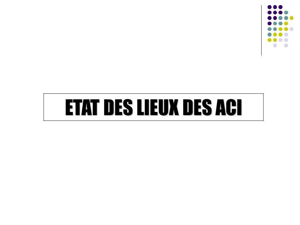 ETAT DES LIEUX DES ACI