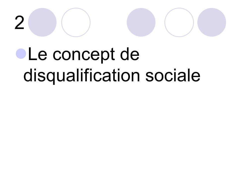 2 Le concept de disqualification sociale