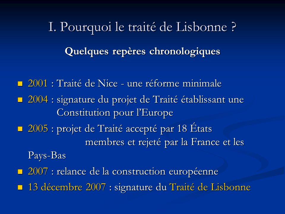 Le Traité de Lisbonne : présentation II.