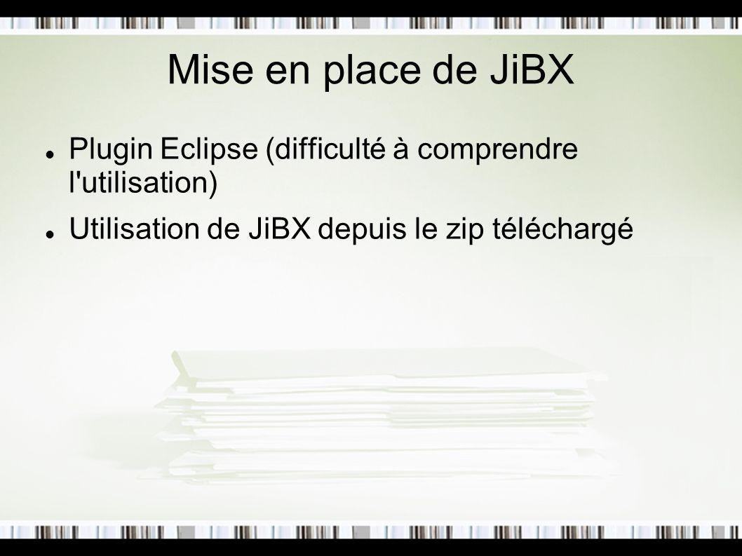 Mise en place de JiBX Plugin Eclipse (difficulté à comprendre l'utilisation) Utilisation de JiBX depuis le zip téléchargé