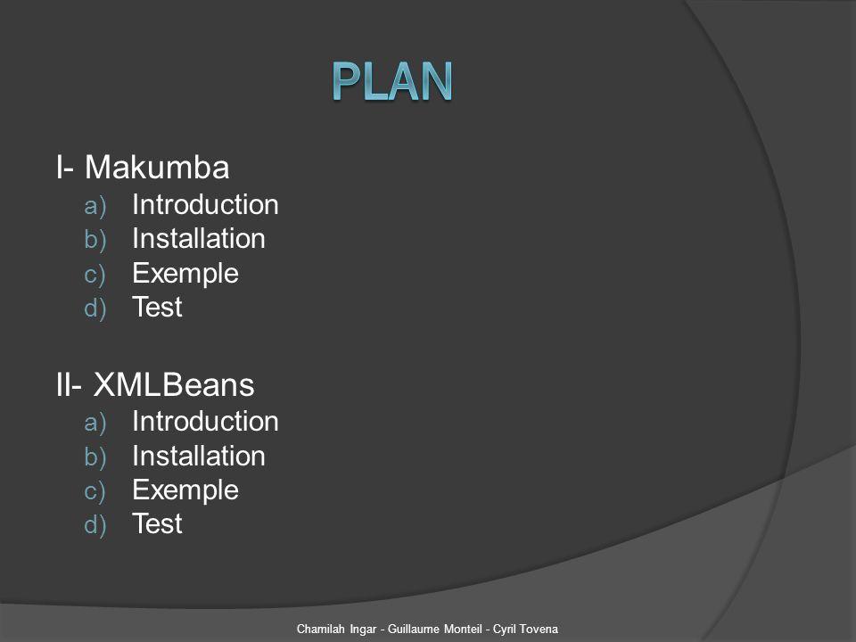 Parsing dun fichier XML Chamilah Ingar - Guillaume Monteil - Cyril Tovena // import des classes Java générées précédemment public class ParseXML { public static void main(String[] args) throws Exception { //Parsing du fichier XML ParcautomobileDocument Parcautomobile = ParcautomobileDocument.Factory.parse(new File ( d:/parcAuto.xml )); Vehicule[] modelesVehicule = parc.getVehiculeArray(); for (Vehicule v : modelesVehicule){ System.out.println(v.getModele()); Marque[] lesMarques = v.getMarqueArray(); for (Marque m : lesMarques){ }